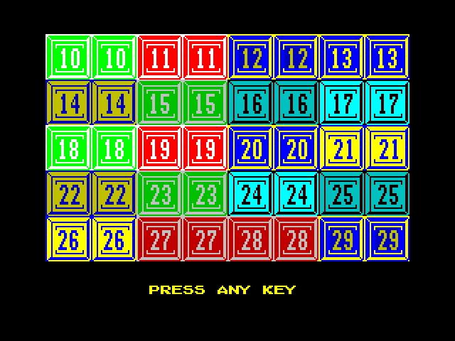 Numbers card set